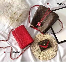 Shop Leather Bag Australia - Designer Handbags Brand Bag Paris Real Leather Luxury Handbags Shopping Bag Shoulder Bag Fashion Clutch Bags Wallet Purse 1 Piece=3 bags L23