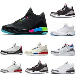 c21d1477591a 2019 New Arrival Jumpman 3 III Black White Fashion Casual Basketball Shoes  Mens Top quality 3s Wolf Grey Designer Sports Sneakers Size 8-13