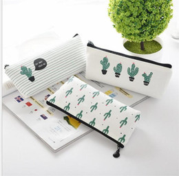 purse organizer pouches NZ - office student zipper Pencil pen bags stationery cases clutch organizer bag Gift storage pouch baby Cactus coin purse girl makeup bags