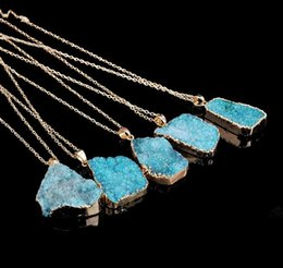 Necklaces Pendants Australia - Hot Natural Crystal Quartz Healing Point Chakra Bead Gemstone Necklace Pendant original natural stone-style Pendant Necklaces Jewelry WCW081