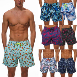 Wholesale mens bathing suits resale online - Boys Mens Swimming Board Print Swim Shorts Trunks Beachwear Summer bathing suit Holiday