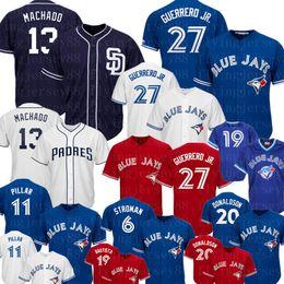 Troy jersey online shopping - San Diego Manny Machado Padres Jersey Toronto Vladimir Guerrero Jr Blue Jays Jersey Marcus Stroman Joe Carter Troy