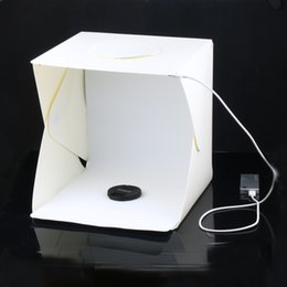 Light Box For Photos Australia - Portable Folding Lightbox Photography Studio Softbox LED Light Soft Box for iPhone Samsang HTC DSLR Camera Photo Background