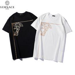 344bc628 New 2019 Mens Summer Tees Plus Size Short Sleeve T Shirt Cotton T-shirt 3D  Designer Clothing Half Face Hot Stamping Head Print 4222#
