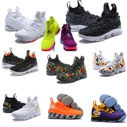 new product 30594 d281b Ashes Ghost Florale quality Lebrons 15 Basketball Shoes men Lebron shoes  Sneaker 15s sports Shoes James 15 size 7-12