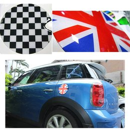 mini cooper stickers decals 2019 - Exterior 3D epoxy Sticker car decal styling for mini cooper s R55 R56 jcw fuel tank cap accessories cheap mini cooper st