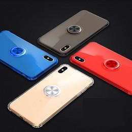 $enCountryForm.capitalKeyWord Australia - Car Holder Magnet Suction+Metal Finger Grip Ring Bracket+Soft TPU Case For Iphone XR XS MAX X 8 7 6 Samsung S10 10e Transparent Gel Cover