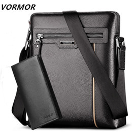 briefcase for ipad UK - Man Leather Bag Vormor Brand Shoulder Crossbody Bags Pu Leather Male Ipad Business Messenger Bag Briefcase For Men MX190817