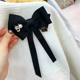 Bowties For Women Australia - Bows Bowties Ribbon Bow Brooch Collar Necktie Accessories Long Needle Brooch Cloth Art Dresses Suit Butterfly for Women