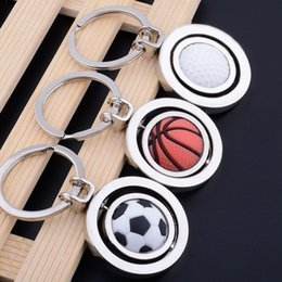 $enCountryForm.capitalKeyWord Australia - METAL ROTATABLE BASKETBALL FOOTBALL GOLF BALL KEYRING KEYCHAIN KEYRINGS KEY ACCESSORIES KEY CHAIN KEY RING FOR STRAP BELT SLING BAG CAR