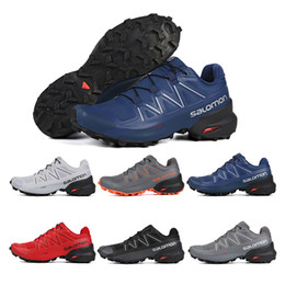 cross running shoes 2020 - Speed Cross 5 CS Men Running Shoes Black Red Blue Speed Cross V Mens Hot Sale Athletic Hiking Sports Sneakers 40-46 disc