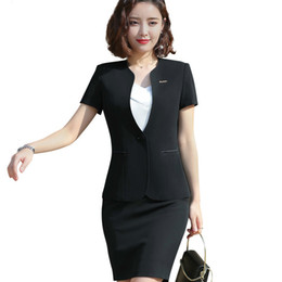 c56a15143 Summer clothing for office women online shopping - Two Together Naviu Fashion  Women Skirt Suit Uniform