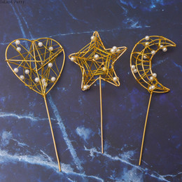 $enCountryForm.capitalKeyWord NZ - Golden Star and moon pattern Cake Topper Party Supplies Acrylic Happy Birthday Cake Topper For Cupcake Birthday Party Decoration