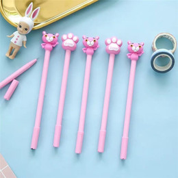 stationery stores Canada - 2 PCS lot Cute Pink Washable Gel Pens For School Office Writing Girl Kawaii Stationery Store Material Creative Pilot Pen 040175