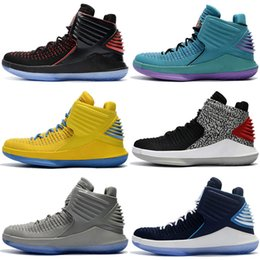 top best basketball shoes Australia - Jumpman 32 Top Hight Cut 2018 mens Kids Basketball Shoes New Black Gold Red Yellow Blue Grey Sport Best Runner Shoes Sports 32s Sneakers