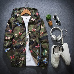 men s leisure thin jackets 2020 - Men Thin Section Fashion Leisure Camouflage Hooded Printing Jacket Outdoor Sports Sun Protection Slim Fit Comfortable Ja
