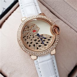 fashion leopard watches Australia - Fashion Brand 38MM Full Diamond Watch Women Leopard Pattern Ladies Dress Luxury Designer Womens Watches Leather Rose Gold Clock Reloj Mujer