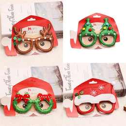 Discount kids toy eyeglasses Red Snowflake Elk Eyeglass Frame Christmas Glasses Kid Adult Party Dress Up Toys Holiday Decoration 2 1rq UU