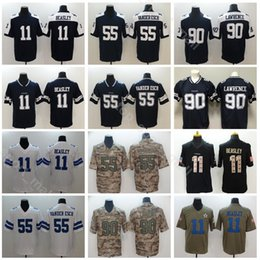 4e1ae613e8f Dallas Cowboys 55 Leighton Vander Esch Jersey Men Football Thanksgiving 11  Cole Beasley 90 DeMarcus Lawrence Vapor Untouchable Blue White