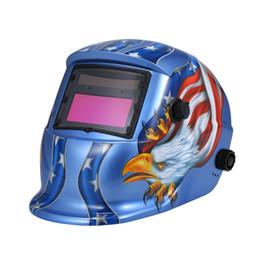 Weld Mask Darkening Australia - Solar Automatic Darkening Helmet Welding Mask Auto Welding Shield MIG TIG ARC Weld Protective Cap With Lens Adjustable He-adband