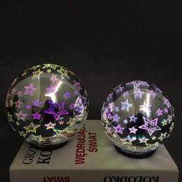 $enCountryForm.capitalKeyWord UK - 3D Creative Glass Ball Projector LED Timing Spherical Projector Nightlight Cool Simple Modern Market Explosion Portable Portable