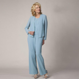 $enCountryForm.capitalKeyWord Australia - Modest Light Sky Blue Mother Of The Bride Pant Suits With Jackets Jewel Neck Wedding Guest Dress Plus Size Sequined Mothers Groom Dresses