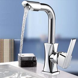 $enCountryForm.capitalKeyWord UK - Brass Polished 360Rotation Kitchen Modern Mixer Tap Single Handle Spout Wash Basin Faucet For Bathroom Deck Mounted