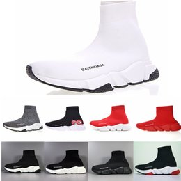 $enCountryForm.capitalKeyWord Australia - Cheap Women Mens Sock Speed Trainer Shoes Sneakers Knitting Slip-on High Quality Casual Walking Shoe Comfort All Black Chaussures A66