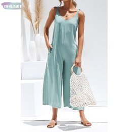 Green summer jumpsuit women online shopping - Summer New Women Solid Fresh Overalls Jumpsuits Vogue Candy Color Casual Rompers Trousers Playsuits Woman Jumpsuit Backless