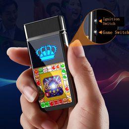 $enCountryForm.capitalKeyWord NZ - Colorful Entertainment Game USB Cigarette Lighter Cyclic Charging Windbreak Innovative Design Zinc Alloy Luxury Enjoyment Decorate