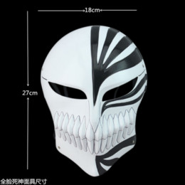 Wholesale bleach ichigo kurosaki cosplay for sale - Group buy Red Death Masquerade Kurosaki Ichigo Mask PVC Bleach Black Dance Halloween Cosplay Party Death Mask Mbwog