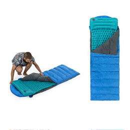 Wholesale Outdoor Travel Envelope Sleeping Bag With Camping Inflatble Air Mat Protable Sleeping Bag Pad For Camping Hiking Riding