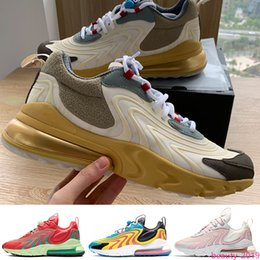 trail trainers UK - Travis Scotts React ENG Running shoes Cactus Trails Jack Laser Blue WATERMELON VIBES women mens trainer fashion sports sneakers