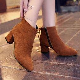30cf8362bd4 Dress Shoes Masorini Sexy Fashion Ankle Winter Women Boots Comfortable Boots  Zipper High Heels Women Boots Women Pumps Plus Size W-046
