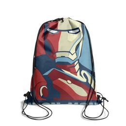 boys ruffle top UK - Drawstring Sports Backpack Top Selling New Iron Man Posters Comic Moviepersonalized convenient sinch sack Pull String Backpack