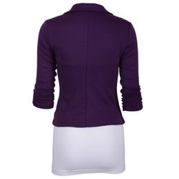 $enCountryForm.capitalKeyWord UK - Hot Women Slim Fit Solid Suit Blazer Jacket Coat Casual Office One Button Outwear Tops MSK66