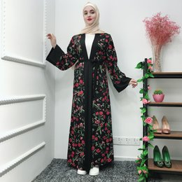 $enCountryForm.capitalKeyWord Australia - Floral Abaya Kaftan Dubai Kimono Muslim Dress Islam Oman Prayer Turkish Islamic Clothing Abayas for Women Robe Vestido Musulman