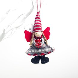 christmas tree angel Canada - Xmas Tree Decorative Pendant Festive Season Decorations Christmas Angel Hanging Ornaments Adornos De Navidad Kerst Decoratie