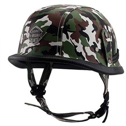 $enCountryForm.capitalKeyWord Australia - Adult Leather Helmets For Motorcycle Retro Half Cruise Helmet Prince Motorcycle GERMAN Helmet Vintage Moto Camouflage