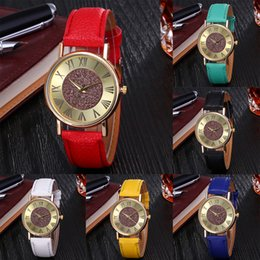 $enCountryForm.capitalKeyWord Australia - Women Girls Solar Eye Round Dial Quartz Watch Alloy Leather Strap Analog Wristwatch Glitter Hand Accessory