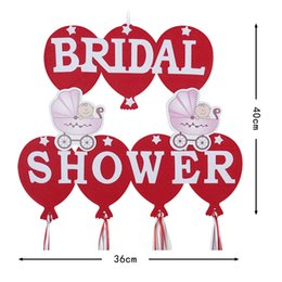 Wholesale BRIDAL SHOWER Letter Ornament Bachelorette Party Decorate Suit Baby Carriage Balloon Pattern Non Woven Fabrics Hot Sale fgD1