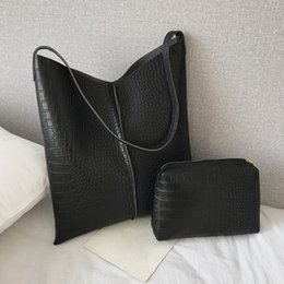 Wholesale Ladies Wallets Handbags Australia - NIBESSER Women Vintage Messenger Bags Shoulder Handbag Set Women Crocodile Composite Bag Purse Wallet Leather Ladies 2019