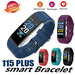 smart watch running Canada - New ID115 PLUS Color Screen Smart Bracelet Sports Pedometer Watch Fitness Running Walking Tracker Heart Rate Pedometer Smart Band