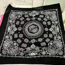 cotton viscose scarves Australia - 100% Cotton Double Paisley Punk Hip Hop Headwear Kerchief Bandanas Foulard Neckerchief Square Scarf for Women Men Boys Girls