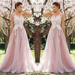 cheap sheer top prom dress Australia - 2018 Modest Lace Prom Dresses Sheer Top A Line Floor Length Cheap Evening Gowns See Through Pink sweet 15 dresses Elegant special occasion