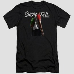 dripping art Australia - Snowfall Franklin Drip Art Black T Shirt