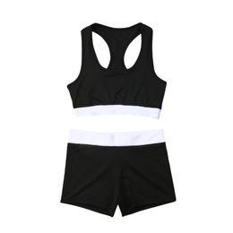 Discount fashion lady sports wear - Fashion Women's Outdoors Tracksuit Sport Bra Sweat Shorts Sets Sport Wear Suit Sleeveless Tops Ladies Summer Clothe