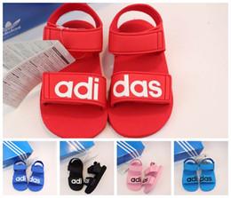 Strap Muscles Australia - kid sandal for boy blue fashion summer slippers ankle straps sandal for little boy girl designer summer shoes EU 22-29 Send with box