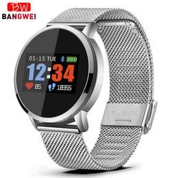 $enCountryForm.capitalKeyWord Australia - BANGWEI Q8 Smart Watch OLED Color Screen Smartwatch Women's Fashion Fitness Tracker Heart Rate monitor