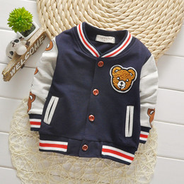 Wholesale Children Girls Clothes Kids Baseball Sweatershirt Toddler Fashion Brand Jacket Spring Autumn Baby Outwear for Boy Coat